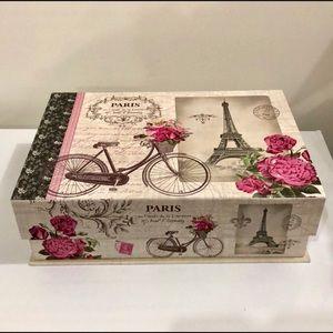 Other - 1 X DECORATIVE STORAGE BOX PARIS INSPIRED
